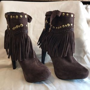 Boston Proper Brown Suede Boots